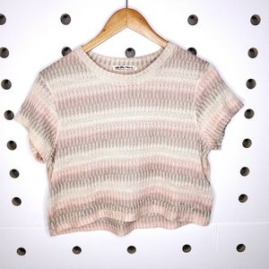 We The Free Striped Crop Top